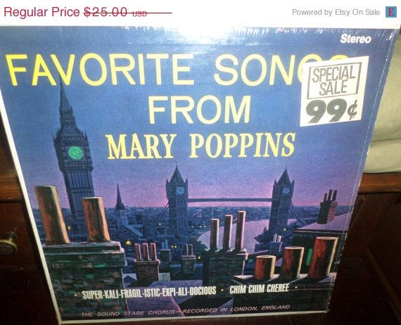 Save 75% Today Sound Stage Chorus: Favorite Songs From Mary Poppins LP Near Mint Condition Somerset Records P-23100 by AlexandersAtticVa on Etsy https://www.etsy.com/listing/196978851/save-75-today-sound-stage-chorus