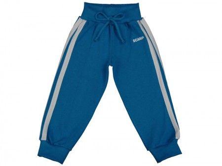 Pantalonaşi cu bandă lată în talie albastru închis-alb 100% bumbac | Cod produs: NID124