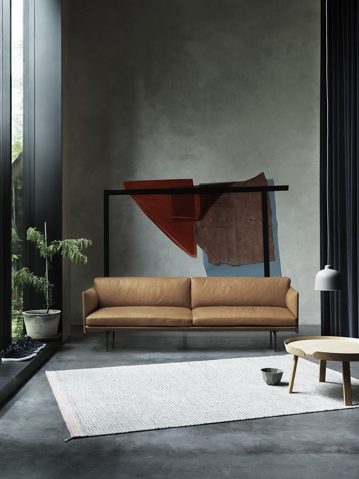 Muuto Outline Sofa Is Big And Comfortable. Decoration And Contemporary  Furniture In Paris
