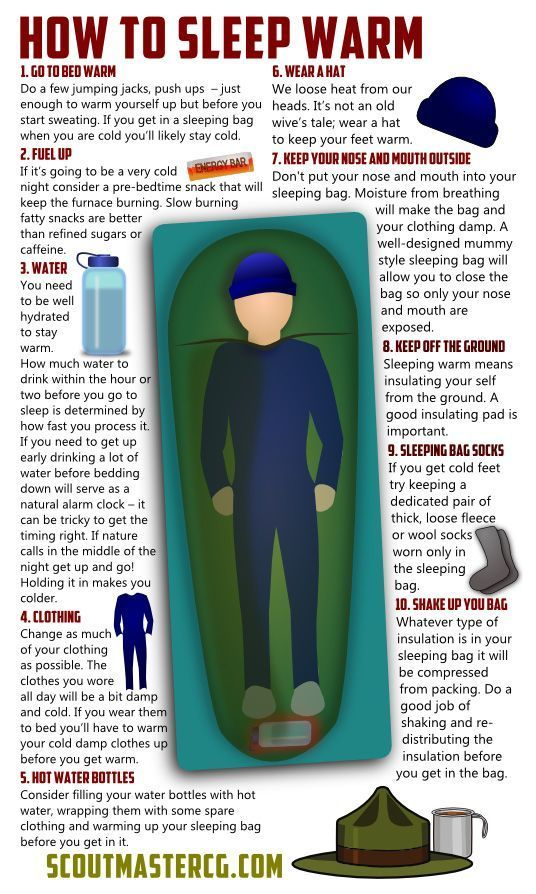 How to Sleep Warm | Survival Prepping Ideas, Survival Gear, Skills & Emergency Preparedness Tips - Survival Life Blog: survivallife.com #survivallife #survival: