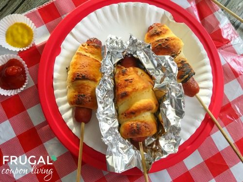 Camping Hot Dogs Recipe for the Campfire Pin to Pinterest Were you as excited about ourCamping Campfire Cinnamon Rolls Baked in Orangesas we were? We wan