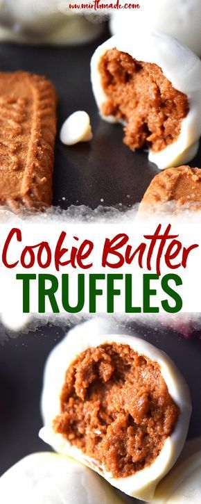 Cookie Butter Truffles | recipes | recipe | with low ingredient | easy | the easiest | quick | simple | desserts | sweets | healthy | light | chocolate | homemade |