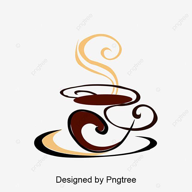 Plantilla De Diseno De Logotipo Gratis De Diseno Simple De Cafe Elemental Imagenes Predisenadas De Taza De Cafe Simple Pintado Png Y Vector Para Descargar Gr In 2021 Logo Design Free
