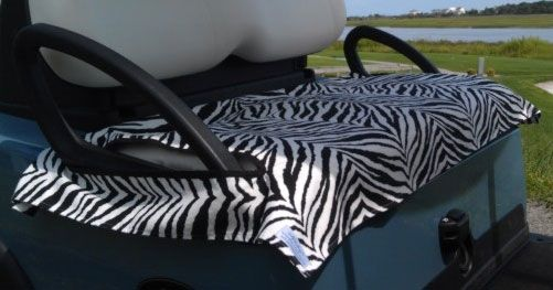 Golf Chic Bags Ladies Golf Cart Seat Covers - Zebra