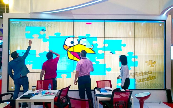 Zaagtech using interactive software from eyefactive's digital signage appstore on a 5x4 gigantic multitouch display wall at InfoComm International MEA in Dubai 2015.  Download free demo version here: http://www.multitouch-appstore.com