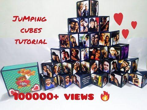 Jumping Cubes Tutorial Diy Unique Gift Ideas The Paper Magic Youtube Unique Gifts Diy Diy Gifts Videos Unique Scrapbooks