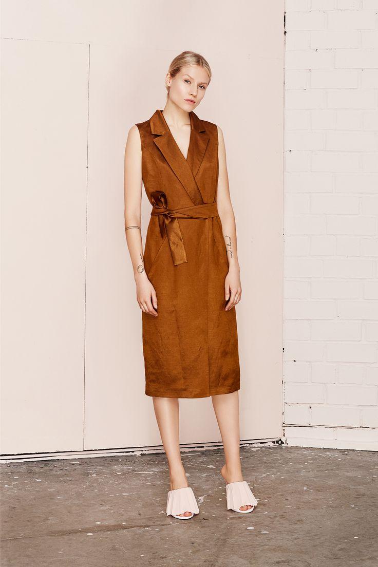 UMBRA brown vest dress  UNDRESS SS17 collection  www.iwearundress.com
