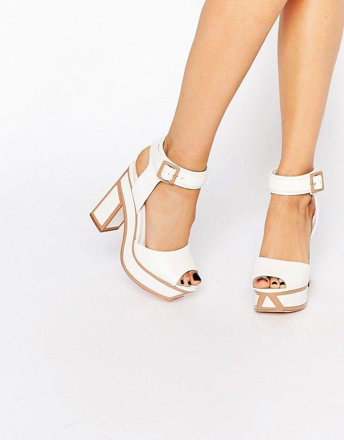 Kat Maconie - Nina - Weiße Sandalen mit Absatz - Weiß