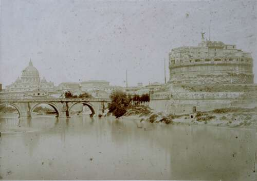 Rome, St. Angelo and the River Tiber 1852 (ca)