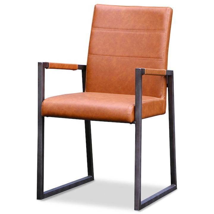 Sundes, cognackleurige stoel met stalen frame. Zen Lifestyle is gevestigd in Wijchen bij Nijmegen en heeft showroom van 10.000 m². Natuurlijk vind je in onze winkel onze eigen producten, zoals ons aanbod vintage en retro banken, onze topsellers, zoals het vintage tv-dressoir Stan. Maar ook hebben wij de mooie collectie van Zuiver en Duchtbone en vind je er nog veel meer topmerken, zoals Be Pure, JouwMeubel, UrbanSofa, Fatboy, Makkii, Woood etc.