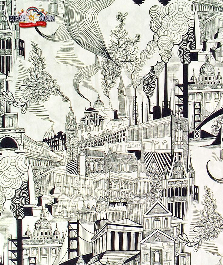 Smoke Stack City Cotton Fabric by Alexander Henry