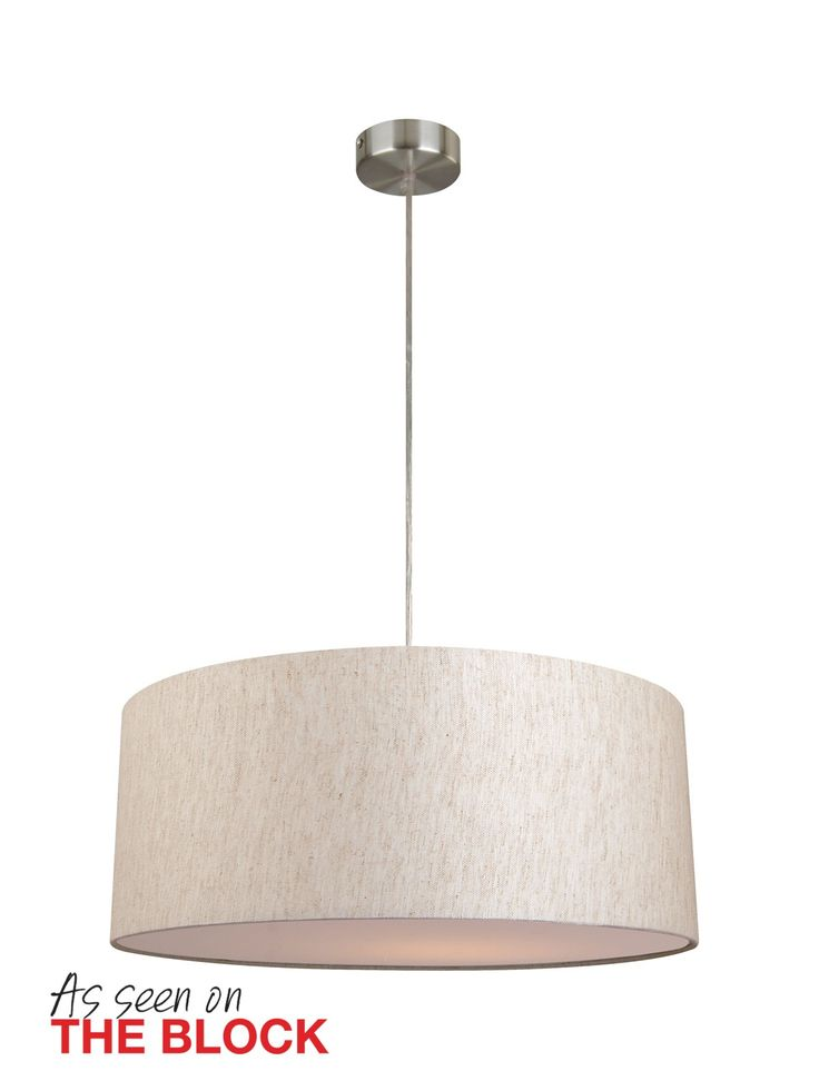 Mara II 500mm Drum Pendant in Linen