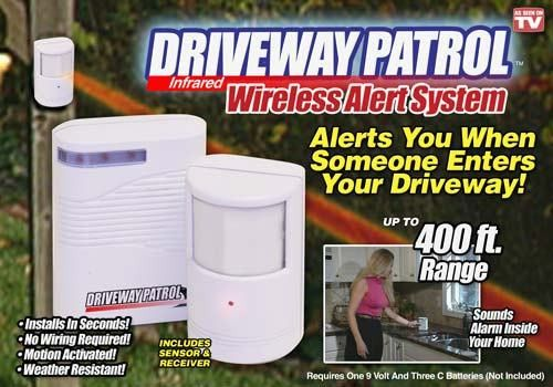 The Driveway Patrol Driveway Alarm is perfect for letting you know when a vehicle is coming up your driveway or when visitors are approaching. It's simple and easy to use. Just place the sensor at the