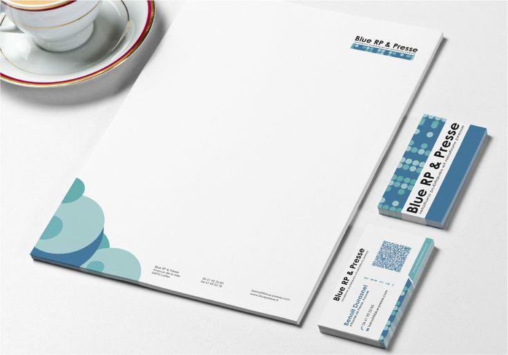 Identité visuelle Blue RP & Presse - Lattes (34)