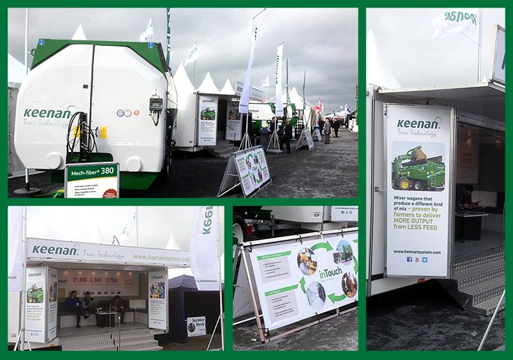 Keenan System show graphics at this year's Balmoral Show #flags #banners #tradestandgraphics #akgraphics www.akgraphics.ie