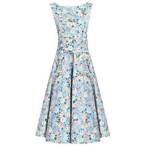 Buy Jolie Moi Floral 50s Wrap Belt Dress Online at johnlewis.com