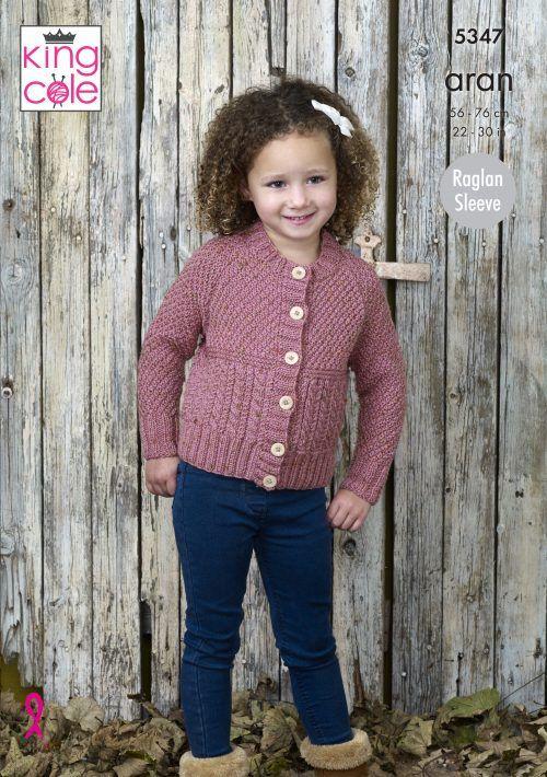 8ad142adb Sweater   Cardigan Knitted in Fashion Aran King Cole
