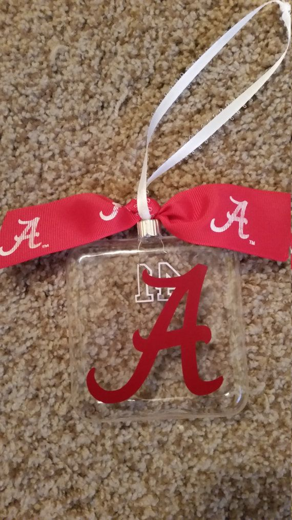 Alabama Ornament can be personalized by TickleMeTurquoise on Etsy