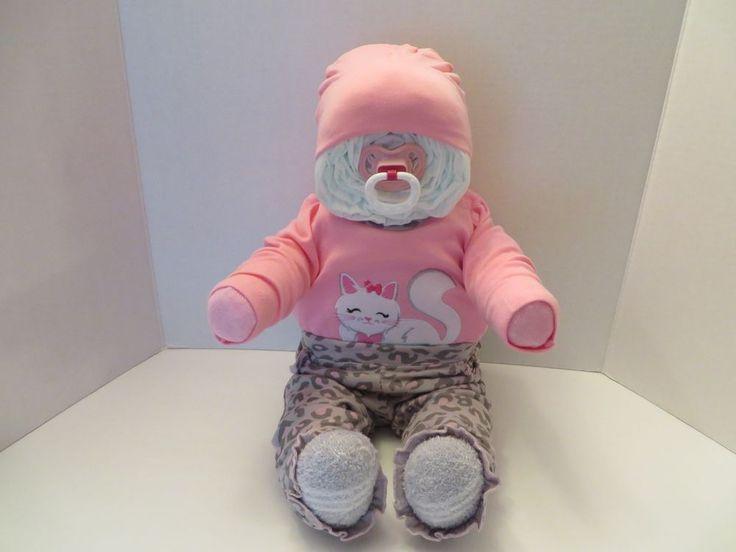 Sitting Diaper Baby Cake Baby Shower Gift 3362 | eBay