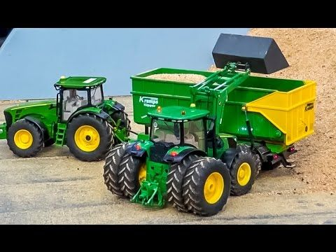 RC tractors working hard! R/C Siku Control ACTION by Hof-Mohr in 1/32 sc...