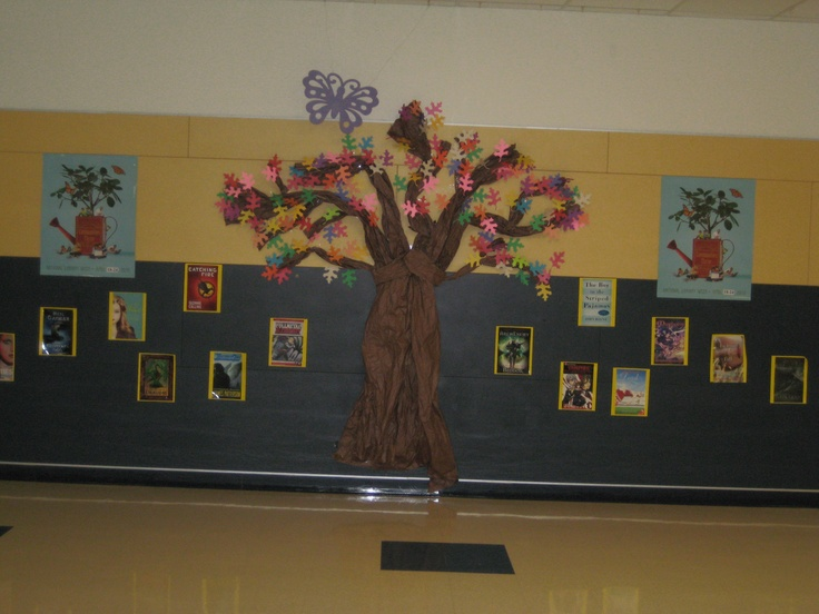 Classroom Decor Jungle ~ National library week wall display ideas for