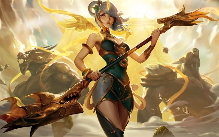 Download wallpapers League of Legends, Lady of Luminosity, MOBA, lunar empress lux