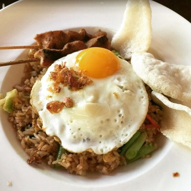 Did you know that Nasi Goreng is just an exotic name for Fried Rice? 🍴  https://www.villakubu.com/oasis-restaurant-bar/  #villakubu #theoasisrestaurant #bar #nasigoreng #cuisine #love #balifoodbible #seminyak #bali
