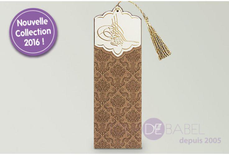 Faire part oriental pochette motif arabesques