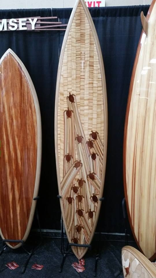 Master wood surfboard builder Mike Rumsey makes our TSS surfboard kits look GOOD! The Boardroom Show - San Diego 2015