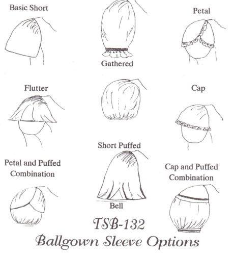 Civil War 1860's Ballgown Sleeve Options Period Impressions Pattern TSB 132 | eBay