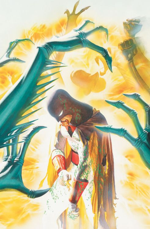 Space Ghost by Alex Ross. It's great to see Space Ghost as something other than a punchline.