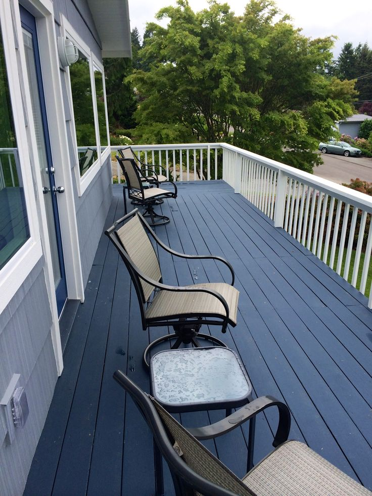 After--we did this project about a year and a half ago.  The Behr DECK OVER product is holding up well.  The only place it chipped off was the edge of a step because people have worn it off.  I think this would happen with any paint product.