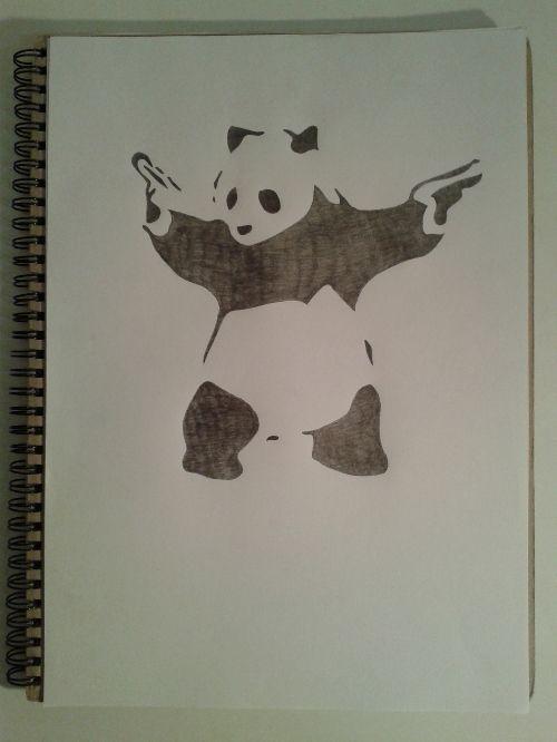 Destroy racism - be like panda - he's black, he's white, he's asian