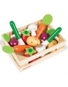 Janod Wooden Vegetable Crate