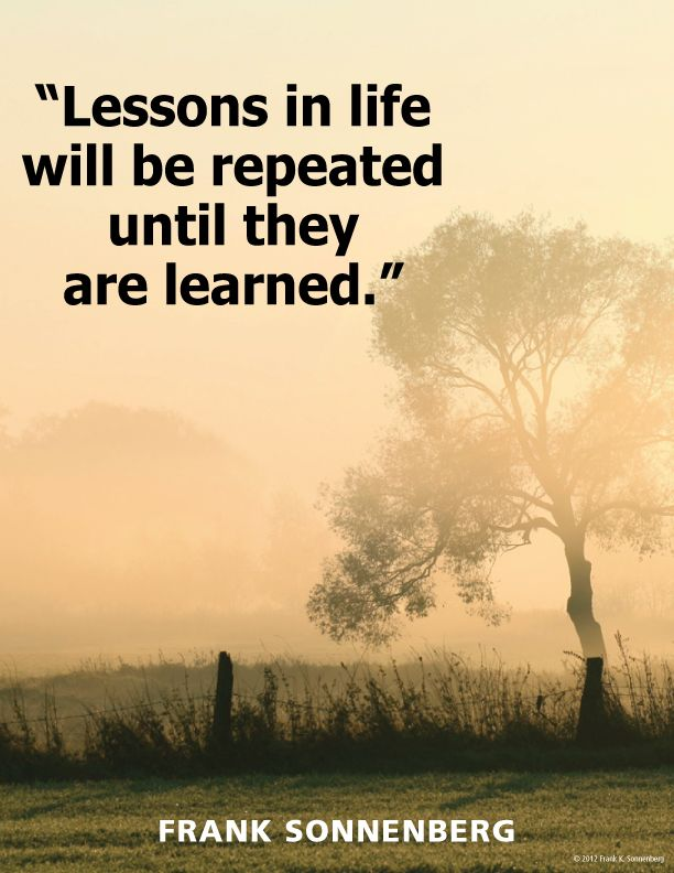 Lessons....