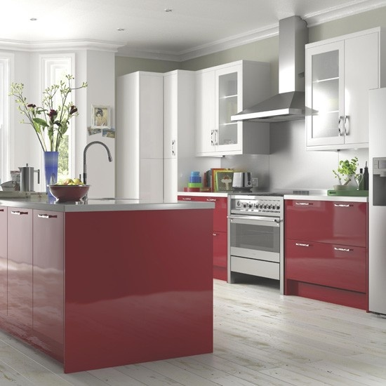 High Gloss Red Kitchen From B Ten Beautiful Kitchens From B Housetohome Co