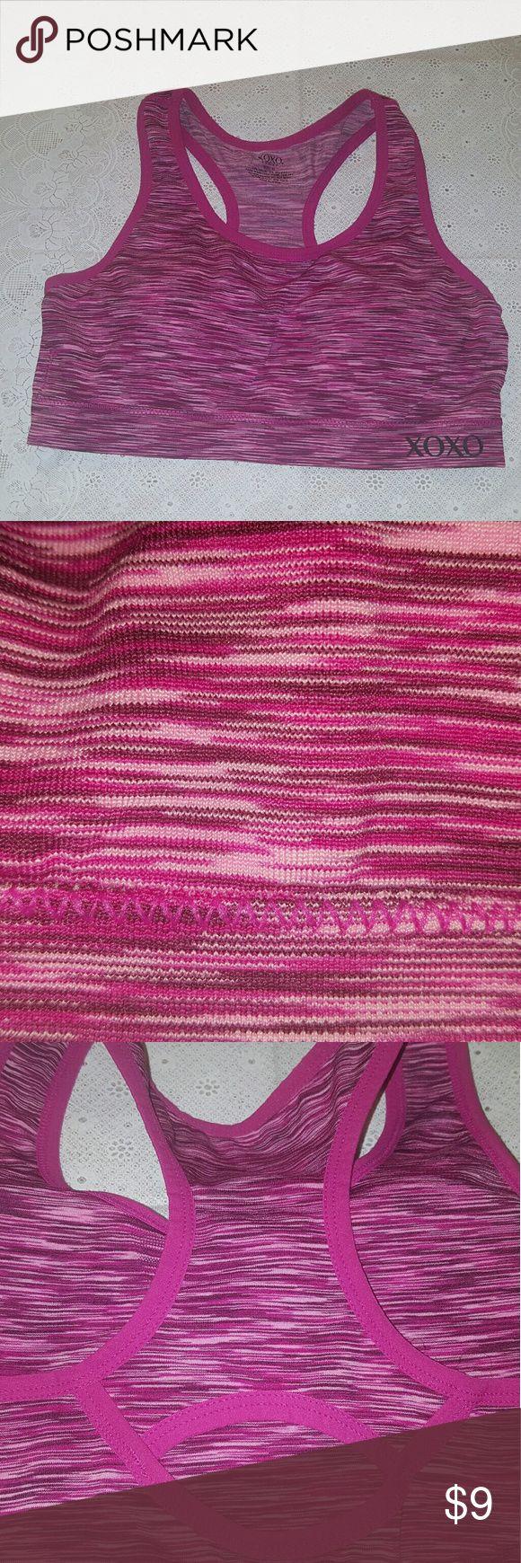Xoxo sports bra Pink stripes sport bra XOXO Intimates & Sleepwear Bras