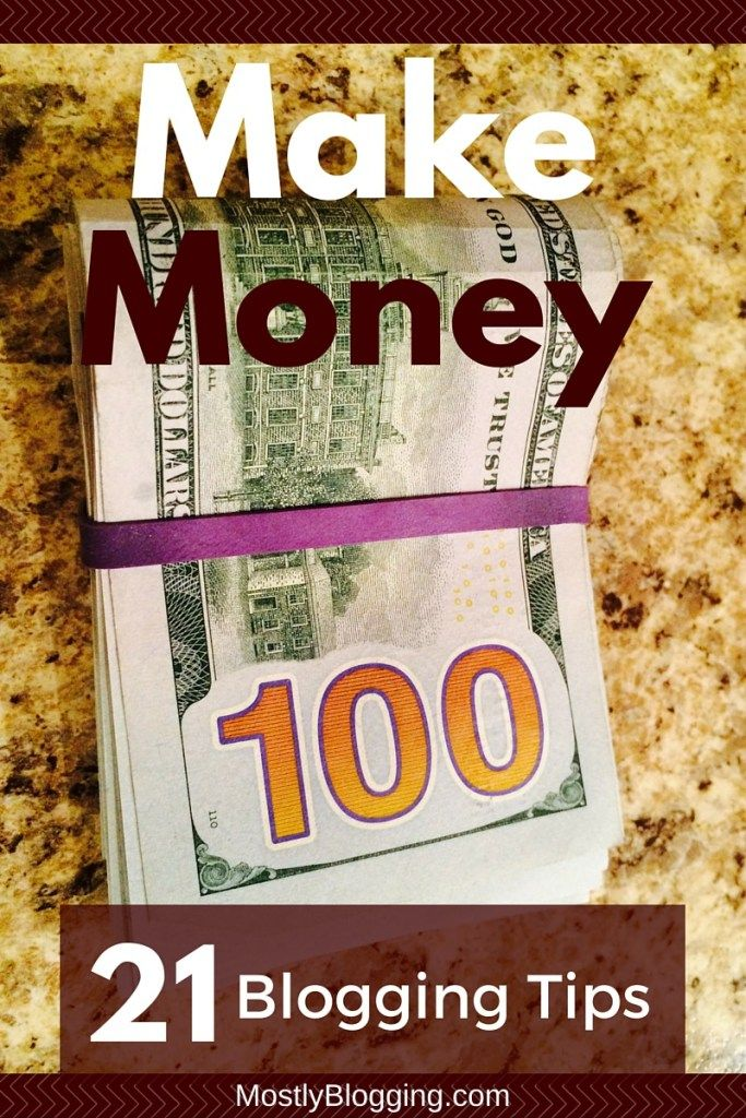 21 ways to make money from your #blog. There should be an idea for people of all #blogging levels. Click to see what they are. MostlyBlogging.com #money #monetization