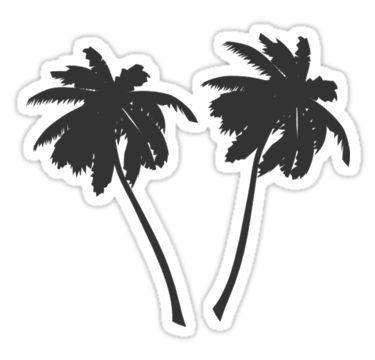 Dos palmeras • Also buy this artwork on stickers, apparel, phone cases y more.