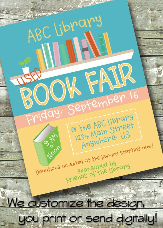 book fair library flyer community event poster by