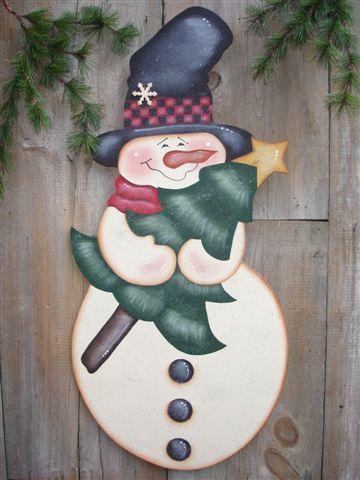 muñeco de nieve facil de recortar