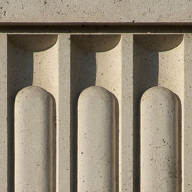 Architectural detail 008: Fluted secession stone columns ...