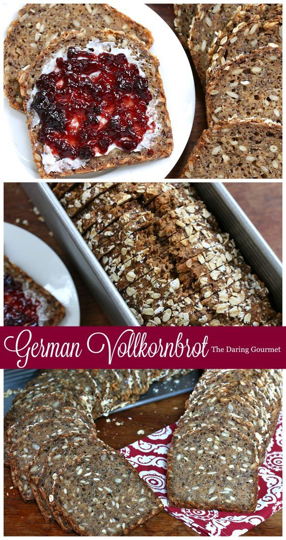 German Vollkornbrot (Whole Grain Seed Bread).  daringgourmet.com