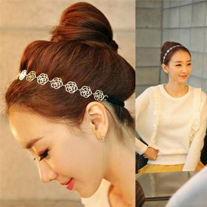 Frauen haar accessoires, hochwertige mode elegante aushöhlen rose kamelie haarband weichen, elastischen in  von  auf Aliexpress.com