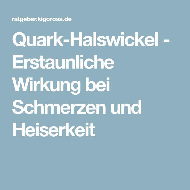 Quark-Halswickel - Erstaunliche Wirkung bei Schmerzen und Heiserkeit