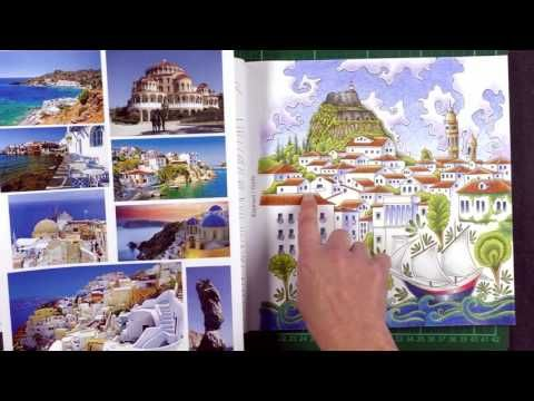 Review Greece Colouring Book
