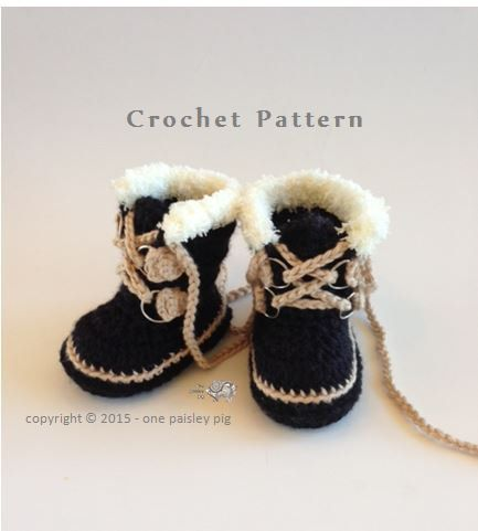 Baby's First Expedition -  Winter Boots (Sorel Pacs Style) - PDF CROCHET PATTERN