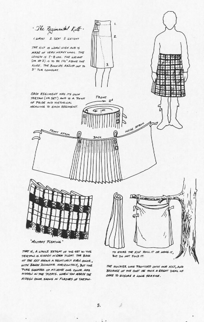 Tapering a kilt apron - Kilt Makers - Professional - Brotherhood of the Kilt