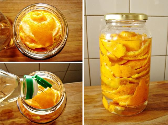 Limpador Multiuso Cítrico, para toda a casa e pode ser utilizado em diversos tipos de aplicações  Ingredientes  Vinagre branco Cascas de frutas cítricas frescas (pode ser de laranja,