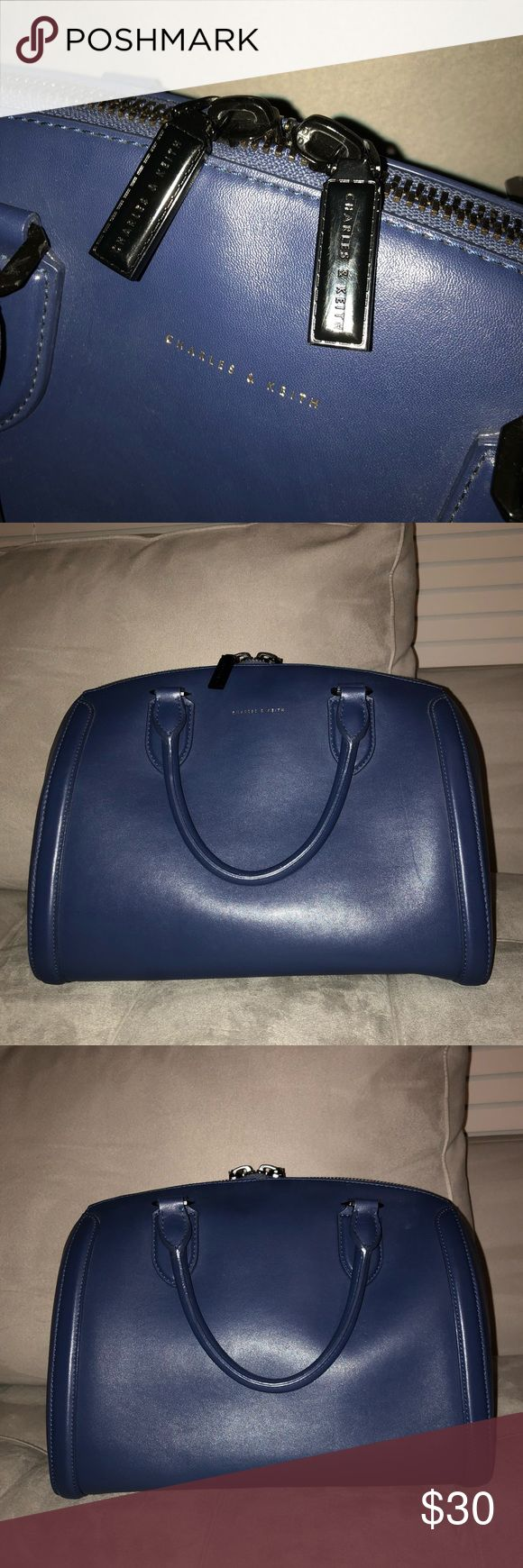 Charles & Keith Blue Handbag Large roomy handbag!  Trying to clear my closet, make an offer! Charles & Keith Bags